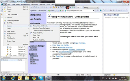 Illustration af arbejdsgange i CaseWare revisionsprogram