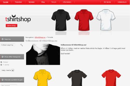 Her illustreres det hvordan en Wannafind webshop kan se ud