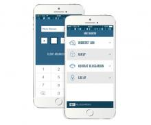 Skærmbillede fra Dataløn app