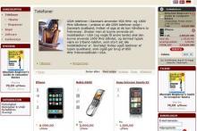 Eksempel på hvordan en webshop kan se ud med løsningen fra Golden Planet