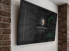 Skærm der viser salgstal i real-tid for at motiverer salgs-team