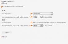 Her kan du se et skærmbillede af hvordan fragt opsættes i Wannafind webshop