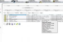 Skærmbillede fra webTour flådestyring- og planlægningsværktøj